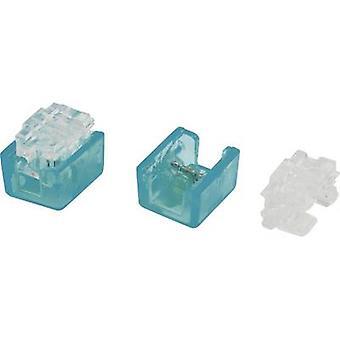 Conrad componenti 808670 Core connettore flessibile: 0.13-0.38 mm ² rigida: 0.13-0.38 mm ² numero di pin: pari a 2100 blu chiaro/PC