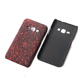 Cell phone cover case bumper shell for Samsung Galaxy J1 2016 3D stars red