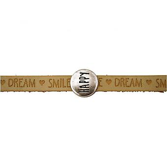 Damen - Armband - Happy - WISHES - Braun - Sand - Magnetverschluss
