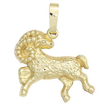 Widder gold Tierkreiszeichen Anhänger Sternzeichen Widder 333 Gold Gelbgold