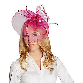 Fascia berretto rosa tulle
