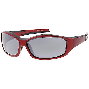TR-90 Sport Wrap Sonnenbrillen konische Arme Rechteck Objektiv 66mm