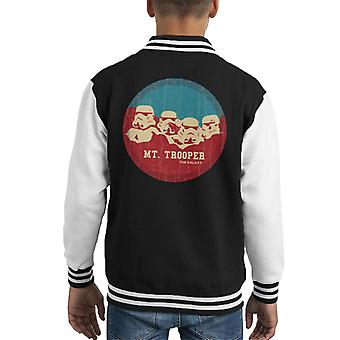 Original Stormtrooper Mt Trooper Rushmore Kid's Varsity Jacket