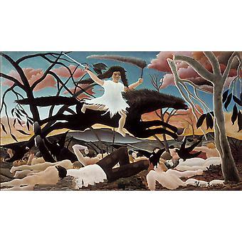 War It Passes, Terrifying, Leaving Despair, Henri Rousseau, 60x40cm