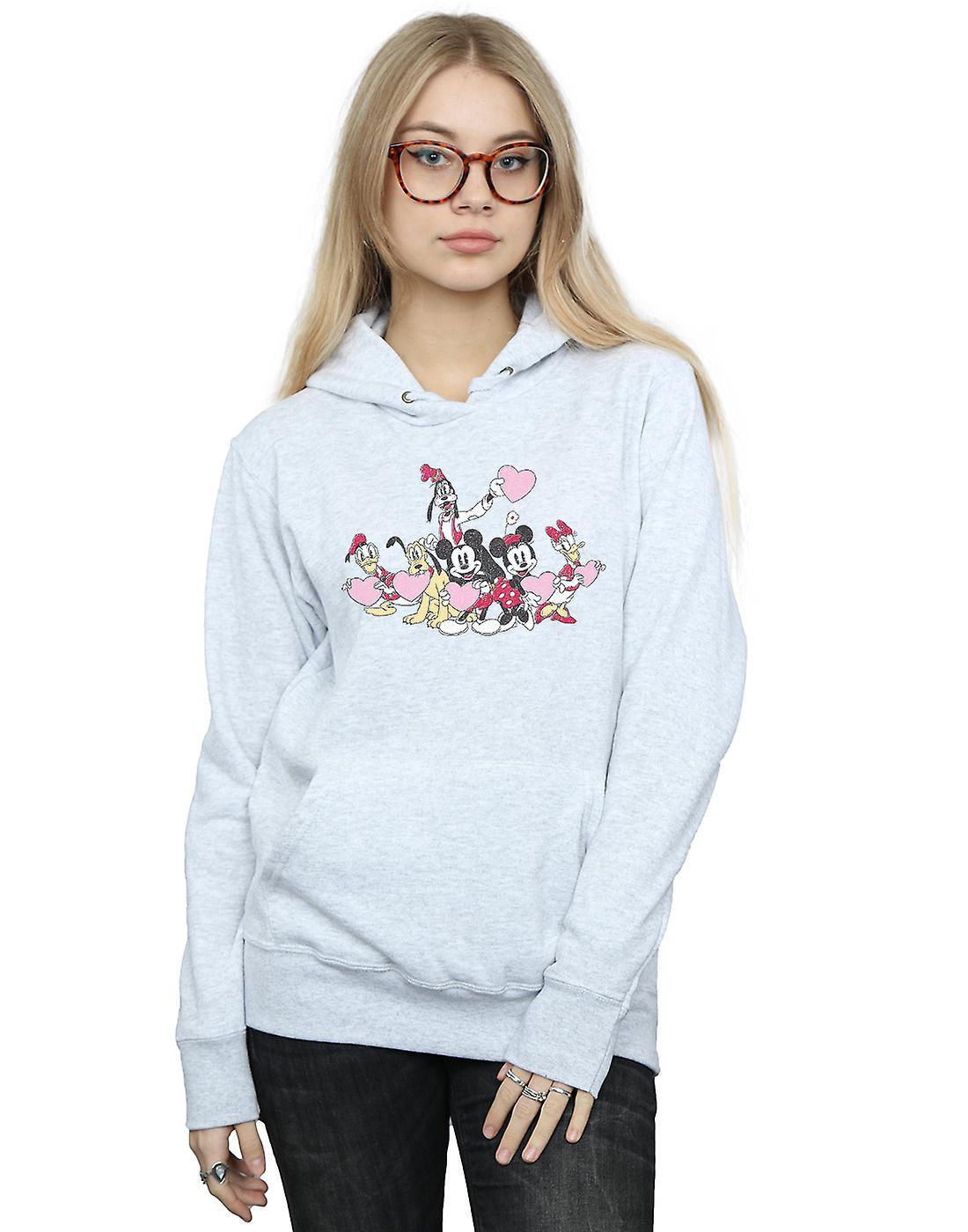 Disney Women's Mickey Mouse Love Friends Hoodie