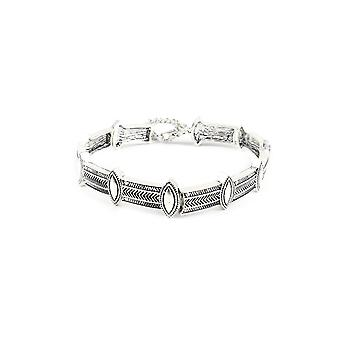 Lovemystyle Silver Choker With Intricate Detailing