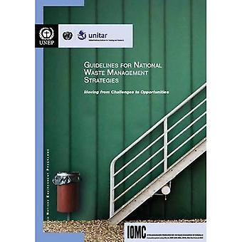 Richtsnoeren voor nationale strategieën voor het beheer van afval: verplaatsen van uitdagingen naar kansen