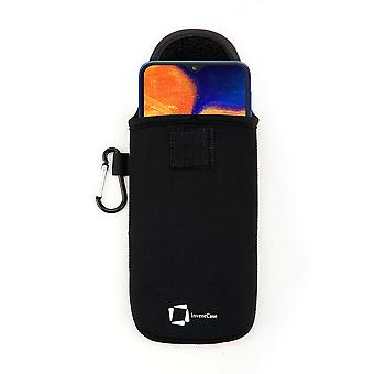 InventCase Neoprene Protective Pouch Case pour Samsung Galaxy A10 2019 - Noir