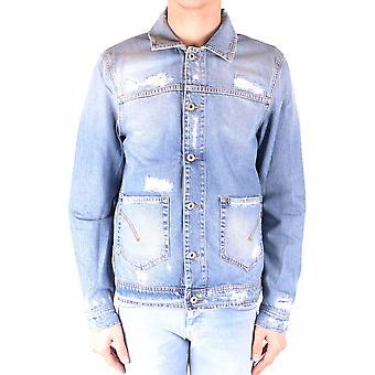 Dondup Ezbc051106 Men's Blue Cotton Outerwear Jacket