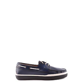 Tod's Xxm0yr0p600brxu803 Men's Blue Leather Lace-up Shoes