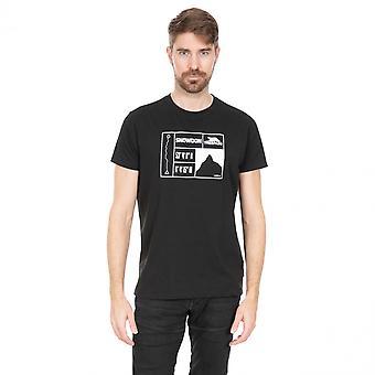 Overtreding Mens Snowdon snelle droge korte mouw grafische T Shirt