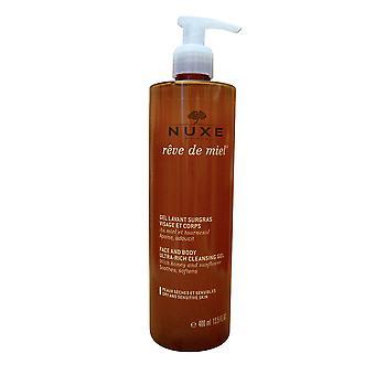 NUXE gezicht en lichaam ultra rijke reiniging gel droge & gevoelige huid 13,5 OZ