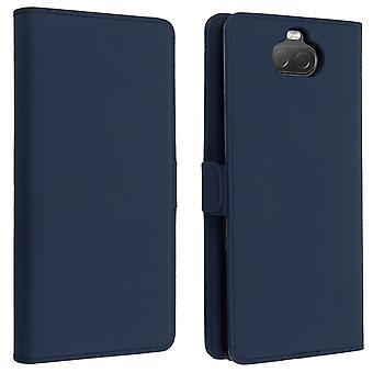 Sony Xperia 10 Case DZgogo Stand Function Wallet Case - Midnight Blue