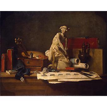 Still life with the, Jean Baptiste Simeon Chardin, 50x40cm