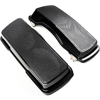 Dual 6x9 Speaker Lids Compatible with 1993-2013 Harley Davidson Ultra Classic Saddle Bags