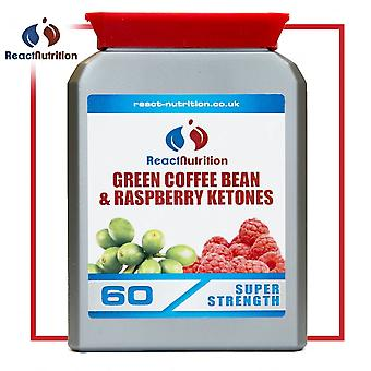 React Nutrition Green Coffee Bean And Raspberry Ketones 60 Caps