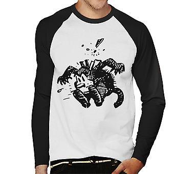 Krazy Kat Leap Herren Baseball Langarm T-Shirt