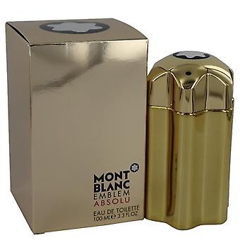 Montblanc emblem absolu eau de toilette spray af mont blanc 540518 100 ml