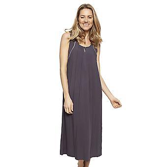 Cyberjammies 1332 Women's Nora Rose Nancy Grey Modal Long Nightdress