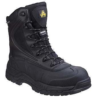 Amblers Safety Mens AS440 Hybrid Metal Free Hi-leg Waterproof Safety Boot Black