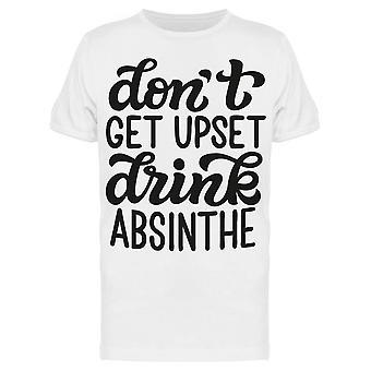 Drink Absinthe Slogan Tee Men-apos;s -Image par Shutterstock