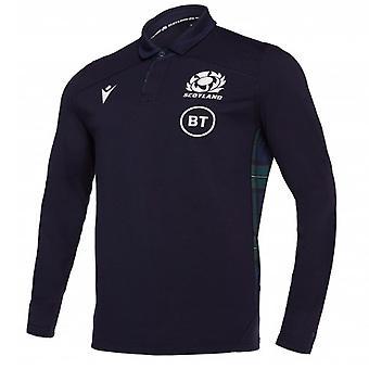 2019-2020 اسكتلندا الرئيسية LS القطن قميص الرجبي