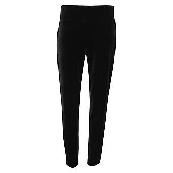 Frank Lyman Black Velvet Straight Leg Trousers