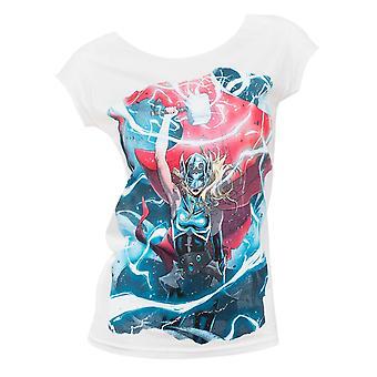 Female Thor Electricity Womens White Shirt