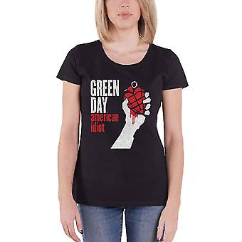 Green Day T Shirt American Idiot Band Logo new Official Womens Skinny Fit