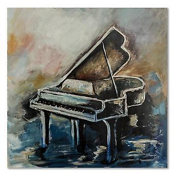 Tela, retrato na lona, piano