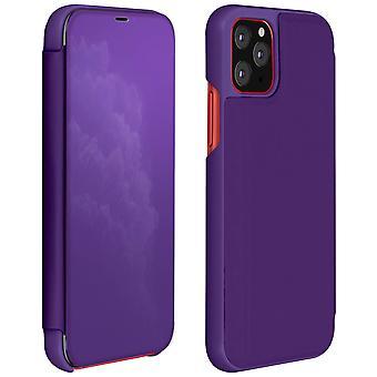 Étui iPhone 11 Pro Max Rigide Clapet translucide Miroir Support Vidéo Violet