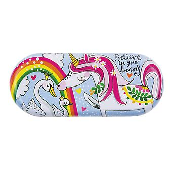 Childrens colourful Unicorn glasses case