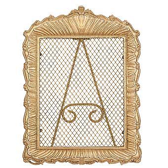 Clayre & amp; Eef romantische gouden sierlijke metalen sieraden staan in shabby vintage stijl ca. 21x28x2 cm