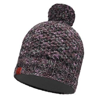 Buff Margo Knitted Hat Plum