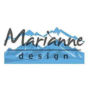 Marianne Design Creatables Horizon Snowy Mountains Die, Metal, Blue, 20.1 x 9.4 x 0.2 cm