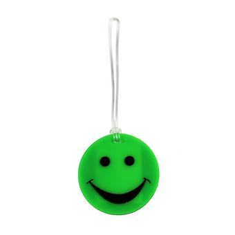 Lewis N. Clark Smiley Face Luggage Tags, Green #ID99GRN