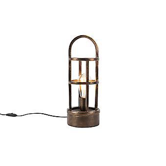 QAZQA Art Deco table lamp bronze 41 cm - Kevie