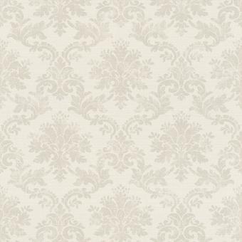 Lui zondag damast design behang grijs en beige Rasch 401424