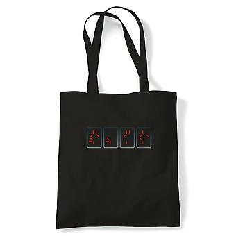 Predator Countdown Film inspiriert Tote | Wiederverwendbare Shopping Baumwolle Leinwand lang behandelt natürliche Shopper Eco-Friendly Fashion