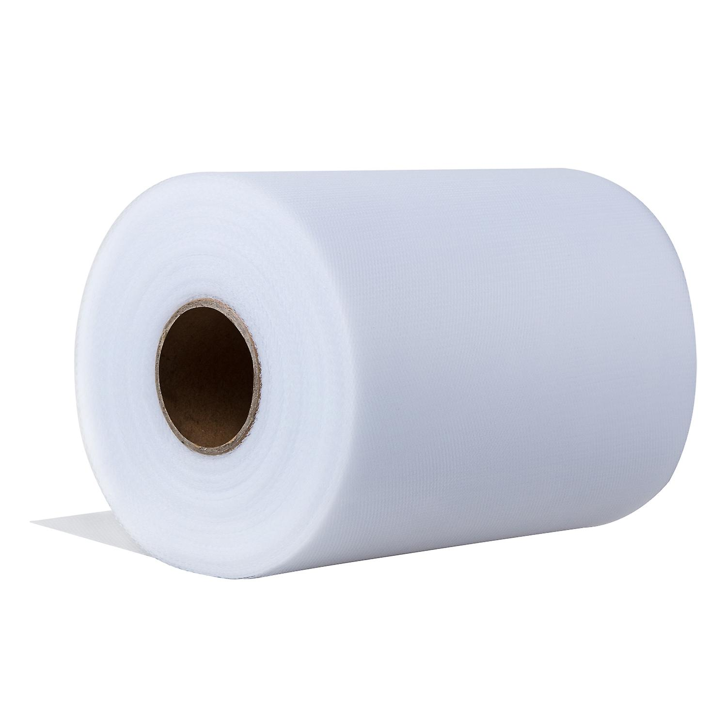TRIXES White 6 x 100yd Fabric Tulle Roll Wedding Decoration Netting Bridal Bow Craft