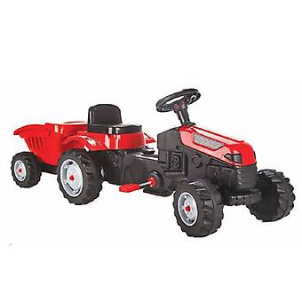 Pilsan Children's Tractor Active Pedals 07316 red with trailer, adjustable seat