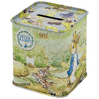 Peter Rabbit Square Money Tin/ Money Box/ Keepsake Gift