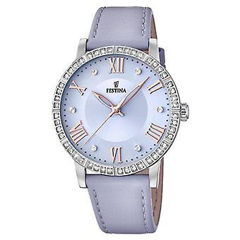Freund Sammlung F20412 3 Festina Uhren - Leder-blauer Himmel-Frau