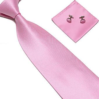 Costume Accessories | Tie + handkerchief + cufflinks-Pink