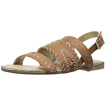 Very Volatile Womens Summa Leather Open Toe Casual Slingback Sandals