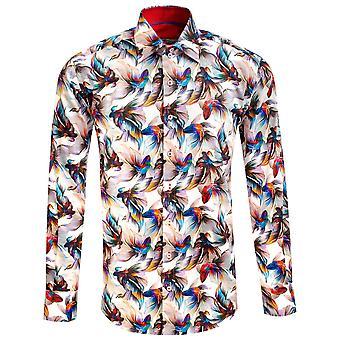 كلاوديو لوغلي كوي قوس قزح طباعة الرجال قميص