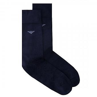 Emporio Armani Navy Logo Socks 302502 9A436