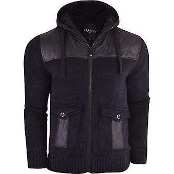 Riverton Mens Riverton ‰Û÷Fleece Lined‰Ûª Hooded Zip Up Cardigan Jumper Sweater Warm Winter Jacket