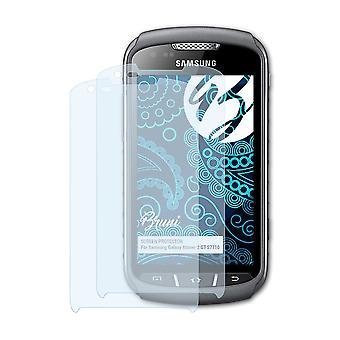 Bruni 2x näytönsuoja yhteensopiva Samsung Galaxy Xcover 2 GT-S7710 suojaava kalvo