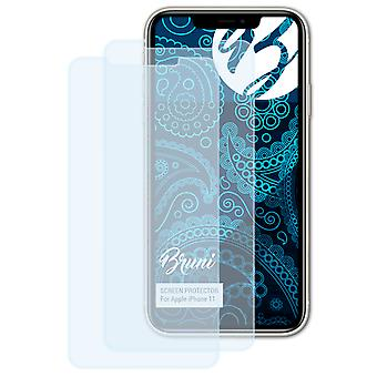 Bruni 2x Protetor de Tela compatível com Apple iPhone 11 Protective Film
